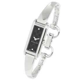 グッチGUCCI時計腕時計グッチ時計レディースGUCCIYA109528G-LINEGライン2Pダイヤモンドバングルウォッチブラック/シルバー
