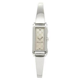 グッチGUCCI時計腕時計グッチ時計レディースGUCCIYA109531Gラインバングルウォッチホワイトパール/シルバー