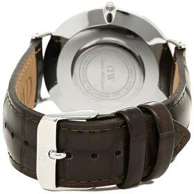 ダニエルウェリントン時計メンズ/レディースDanielWellington0211DW40mmCLASSICクラシック腕時計レザーYORK/SILVERシルバー
