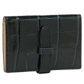 ジェイアンドエムデヴィッドソン 小物 J&M DAVIDSON 7528 7267 17 VISIT CARD HOLDER MOCK CROC カードケース NAVY