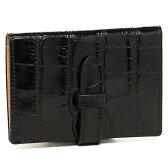 ジェイアンドエムデヴィッドソン 小物 J&M DAVIDSON 7528 7267 5 VISIT CARD HOLDER MOCK CROC カードケース BLACK