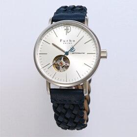 フルボデザイン時計メンズFurbodesignF2002SSINV自動巻き腕時計ウォッチシルバー/ネイビー