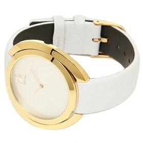 カルバンクライン時計レディースCALVINKLEINK3U235.L6AGGREGATEアグレゲート腕時計ウォッチゴールド/ホワイト