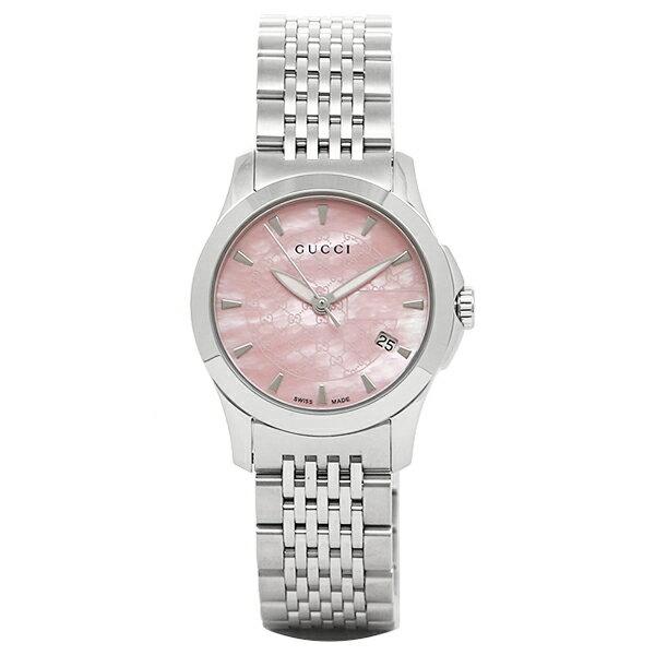 GUCCI 時計 レディース グッチ YA126532 G-タイムレス 腕時計 ウォッチ シルバー/ピンク