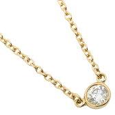 ティファニー ネックレス TIFFANY&Co. 10769248 ダイヤモンド バイザヤード 18K 0.08ct 16IN 18Y ペンダント イエローゴールド