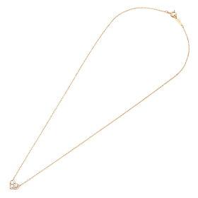 ティファニーネックレスTIFFANY&Co.28950136センチメンタルペンダントダイヤモンド16IN18Rペンダントピンクゴールド