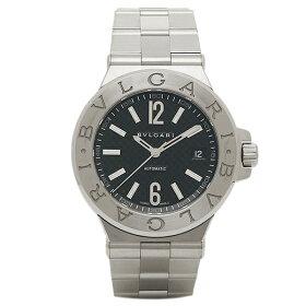 BVLGARIブルガリディアゴノクラシックオートマチックブラックメンズDG40BSSDウォッチ腕時計シリアル有