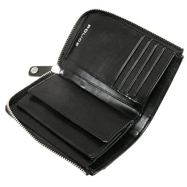 d57eee25b290 ポリス 財布 POLICE PLC123 ブローチ メンズ 二つ折り財布 BLACK - www ...