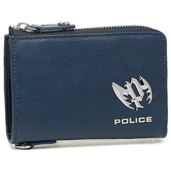 e70ad41f8324 【6時間限定ポイント5倍】ポリス 財布 POLICE PLC123 ブローチ メンズ 二つ折り財布 BLUE
