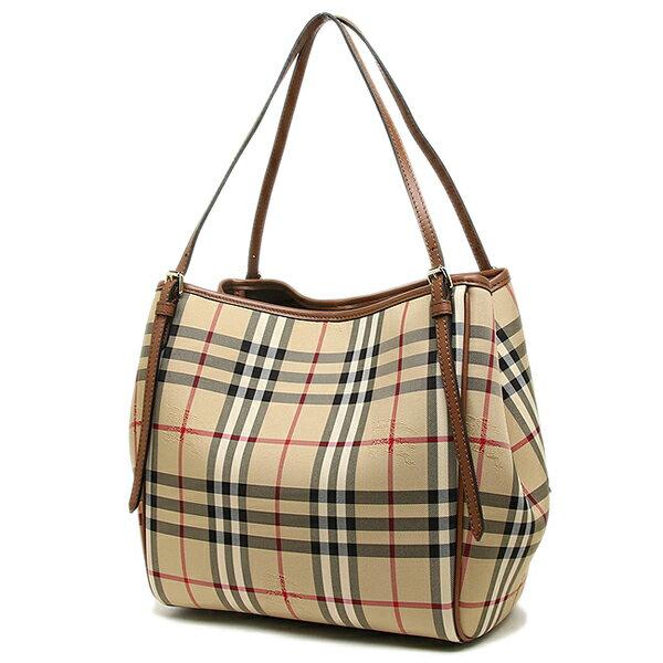 Burberry Bags 4012453 2160b Small Canterinhorseferry Check Tote Bag Honey Tan