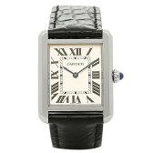 カルティエ 時計 CARTIER W5200005 カルティエ タンク ソロ SS SM レディース腕時計ウォッチ ホワイト/シルバー/ブラック