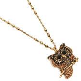 マークジェイコブス ネックレス MARC JACOBS M0009960 957 CHARMS OWL PENDANT ペンダント JET MULTI/ANTIQUE GOLD
