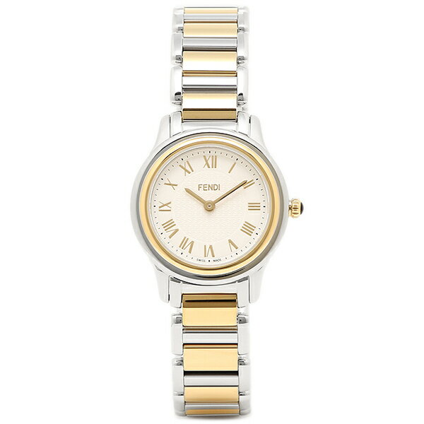 【30時間限定ポイント5倍】フェンディ 腕時計 レディース FENDI F251124000 ホワイト/シルバー/ゴールド