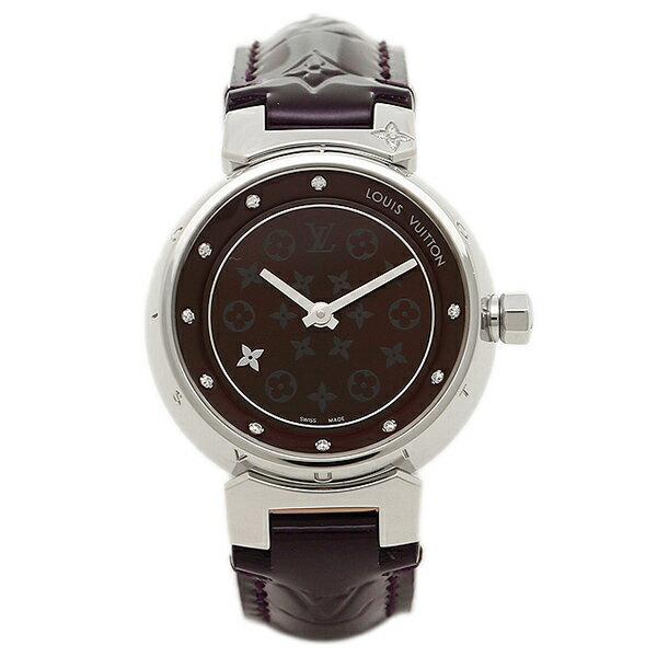 【24時間限定ポイント5倍】ルイヴィトン 腕時計 LOUIS VUITTON Q12M30 28mm アマラント シルバー