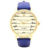 ケイトスペード 腕時計 KATE SPADE KSW1238 ブルー イエローゴールド