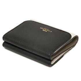 コーチCOACH折財布レディースアウトレットF57825IMLLFブラックホワイトベージュ