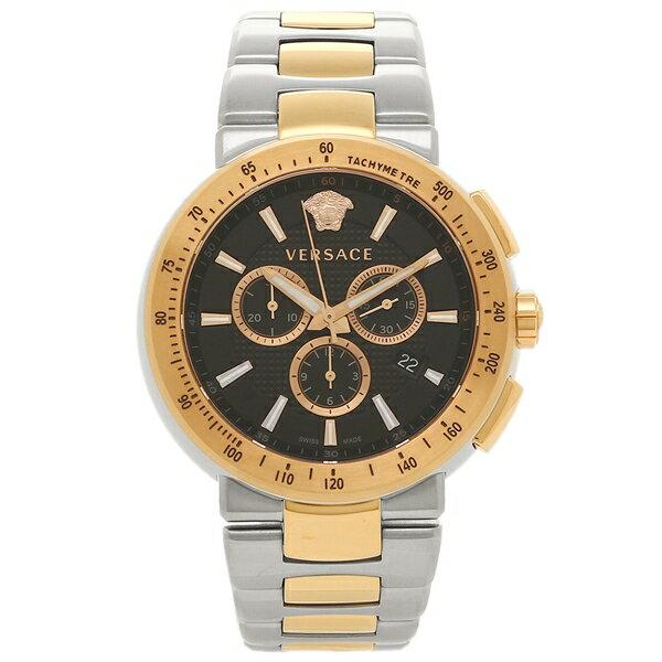 VERSACE 腕時計 ヴェルサーチ VFG100014 ブラック ゴールド シルバー:ブランドショップ AXES