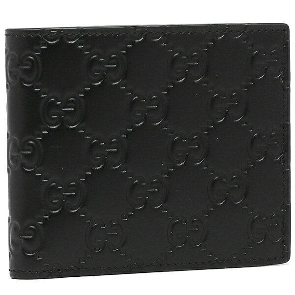 【6時間限定ポイント5倍】グッチ 折財布 メンズ GUCCI 365467 CWC1R 1000 ブラック