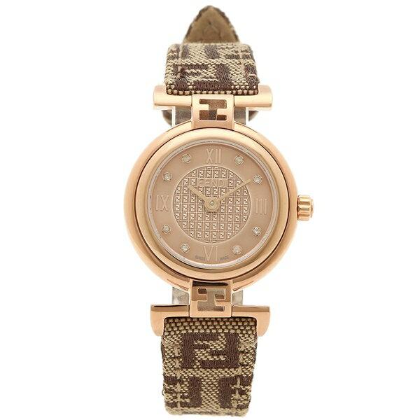 フェンディ 腕時計 レディース FENDI F275272DF ピンクゴールド ブラウン