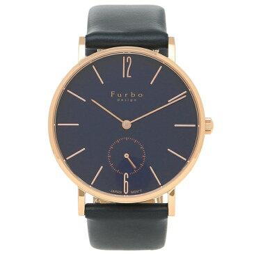 【返品OK】フルボデザイン 腕時計 メンズ Furbo design F01-PNVNV ネイビーブルー ピンクゴールド