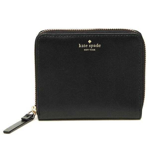 0f9681a140ce KATE SPADE ケイトスペード 二つ折り財布 アウトレット レディース WLRU3321 001 ブラック 高級感