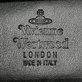 ヴィヴィアンウエストウッド財布VIVIENNEWESTWOOD5101000940153サフィアーノSAFFIANOWALLETWITHCOINPOCKETレディース/メンズ二つ折り財布無地BLACK黒