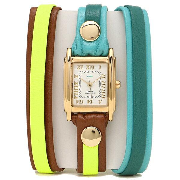 LA MER COLLECTIONS 腕時計 レディース ラメール コレクションズ LMLWMIX1005 グリーン イエロー ゴールド ホワイト