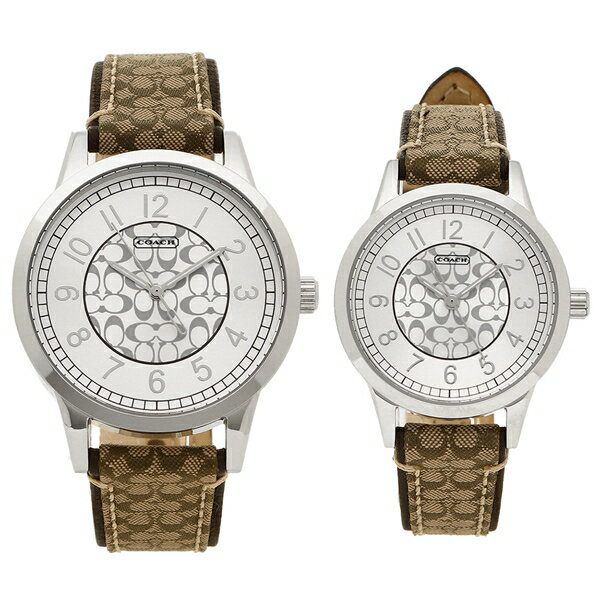 COACH ペアウォッチ 腕時計 メンズ レディース コーチ 14000042 カーキー シルバー