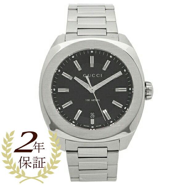 GUCCI グッチ 腕時計 メンズ YA142201 ブラック シルバー