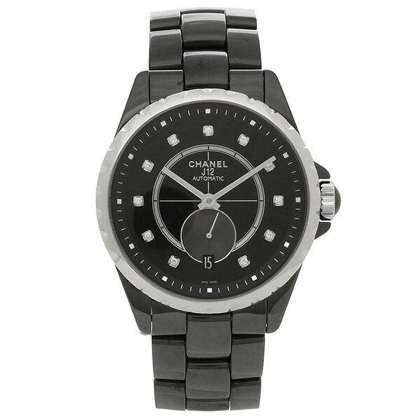 CHANEL 腕時計 メンズ レディース シャネル H4344 ブラック シルバー