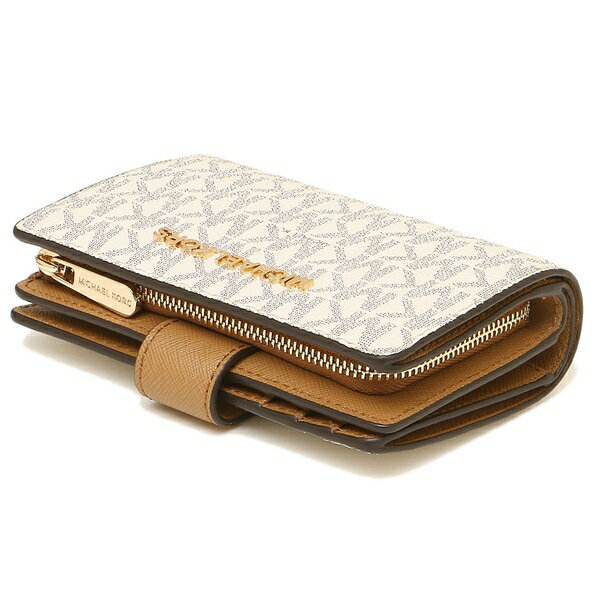 release date fb480 6b1c1 Michael Kors fold wallet outlet Lady's MICHAEL KORS 35F8GTVF2B VANILLA/ACRN  white beige