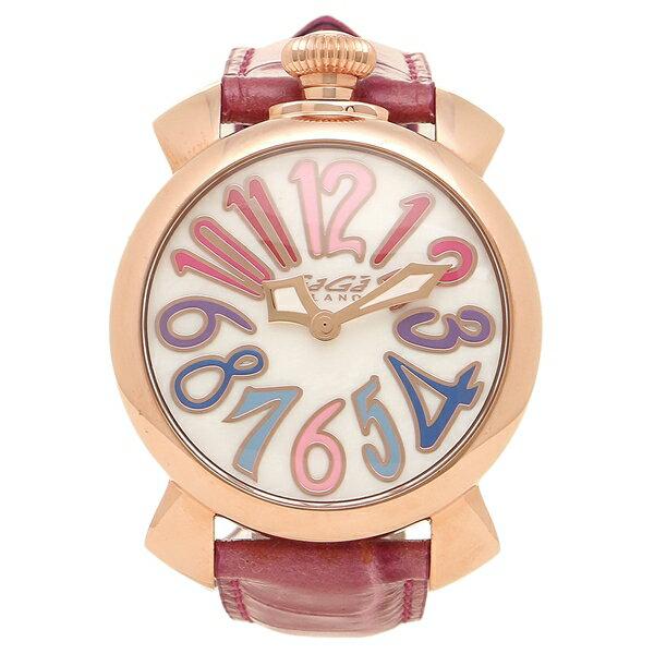 GAGA MILANO 腕時計 メンズ レディース ガガミラノ 5021.1-PIN-NEW ホワイトパール ピンク ピンクゴールド