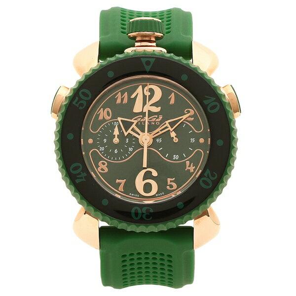 【4時間限定ポイント10倍】ガガミラノ 腕時計 メンズ GAGA MILANO 7011.02 グリーン ピンクゴールド