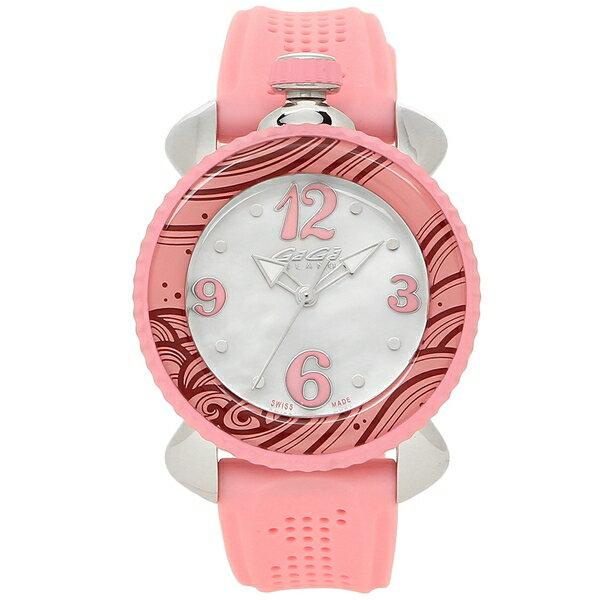 ガガミラノ 腕時計 レディース GAGA MILANO 7020.09 ホワイトパール ピンク シルバー