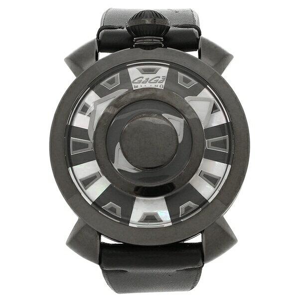 80cd49924f 【6時間限定ポイント5倍】ガガミラノ 腕時計 メンズ GAGA MILANO 9094.01 ブラック ホワイト