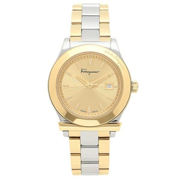 【24時間限定ポイント10倍】フェラガモ 腕時計 レディース Salvatore Ferragamo FFL010017 シルバー イエローゴールド