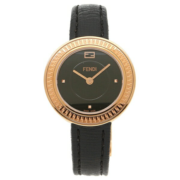 FENDI 腕時計 レディース フェンディ F354521011 ローズゴールド ブラック