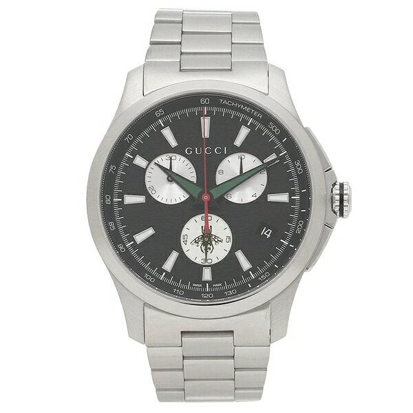 【4時間限定ポイント10倍】グッチ 腕時計 メンズ GUCCI YA126267 シルバー ブラック