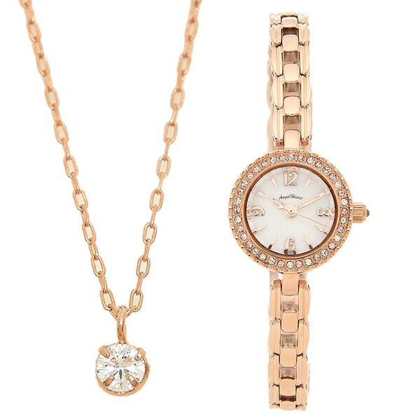 4時間 10倍  返品OK エンジェルハート腕時計レディースネックレス付きANGELHEARTET21PMAホワイトパールピン