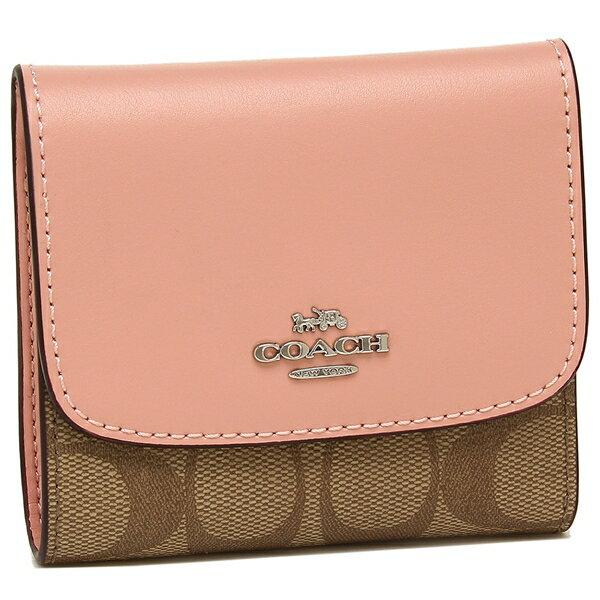 sports shoes 0fad6 6065c Coach fold wallet outlet Lady's COACH F87589 SVAVK khaki pink