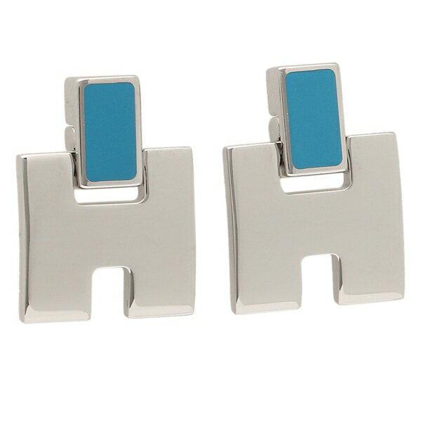 HERMES ピアス アクセサリー レディース エルメス H616201FP 90 ブルー シルバー