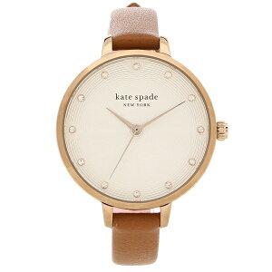 【4時間限定ポイント10倍】【返品OK】ケイトスペード 腕時計 レディース KATE SPADE KSW1534 ブラウン ピンクゴールド