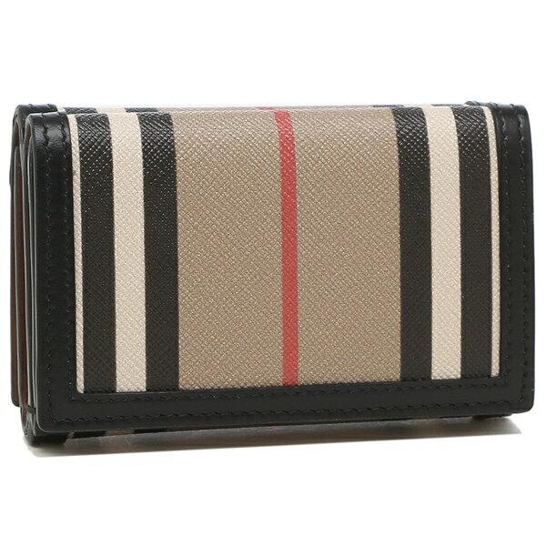 【返品OK】バーバリー三つ折り財布ラークアイコンストライプベージュレディースBURBERRY8027294A7026
