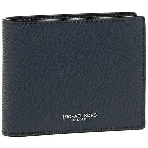 【P10倍 8/20 20時〜24時】マイケルコース 財布 二つ折り財布 アウトレット ハリソン パスケース ネイビー メンズ MICHAEL KORS 36U9LHRF6L 【返品OK】