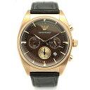 81dc4871cd57 【激安セール】【円高還元】  EMPORIO ARMANI 『EMPORIO  ARMANI』エンポリオアルマーニから、クロコ型押しレザーベルトのクロノグラフ腕時計が入荷!
