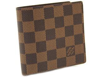 LOUIS VUITTON Louis Vuitton N61675 ダミエポルトフォイユマルコメンズ two fold wallet