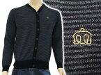 【期間限定】merc london BEAM 長袖ウールニットカーディガン 1610219 1 ブラックボーダー マーク メルク 王冠刺繍 メンズ【新品・未使用・正規品】【あす楽対応】