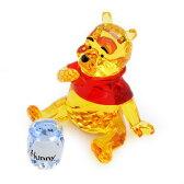 スワロフスキー 1142889 Winnie the Pooh ディズニー くまのプーさん 「プーさんとハチミツの壺」 クリスタル フィギュア 置物【r】【新品・未使用・正規品】