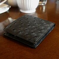 オーストリッチ:カードホルダー付二つ折り札入れ[2431]