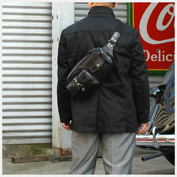 【Archives|廃盤】COMPLEX GARDENS:弥陀(ミダ):ダブルポケットヒップバッグ[3843]:クオワークス--青木鞄OfficialShop